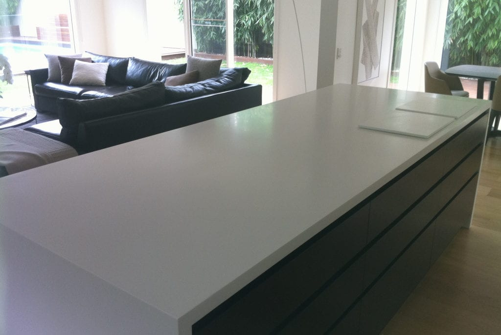 Durable island bar tops are often the central meeting point of a home.