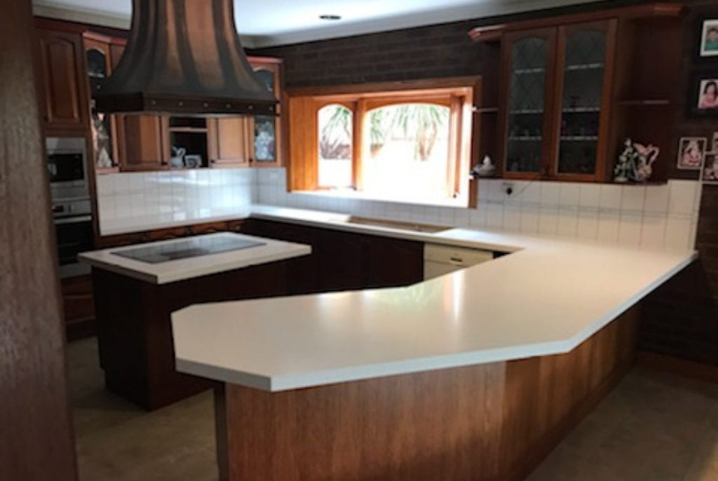 New benchtop place on existing cabinetry to give an instant facelift
